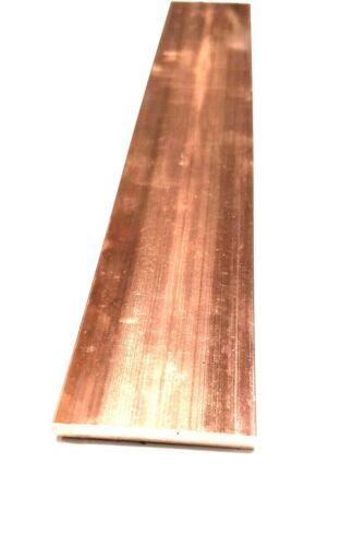 "Copper 110 Flat Bar 1/4"" x 2"" x 6""-Long -->.25"" x 2"" Copper Bus Bar"
