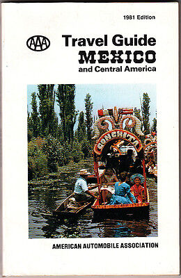 Aaa Travel Guide Mexico Central America 1981 Edition