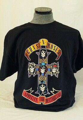 GUNS N ROSES AUTHENTIC 2008 APPETITE FOR DESTRUCTION LICENSED SHIRT XL HANES