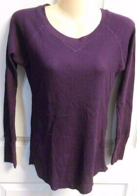 - Full Tilt Junior M Shirt Top Long Sleeve Eggplant Purple Thermal Style BARGAIN!