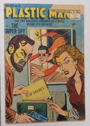 PLASTIC MAN #59 - FR Quality Comics 1956 Vintage Comic