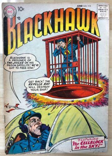 BLACKHAWK #113 (1957) DC Comics VG+