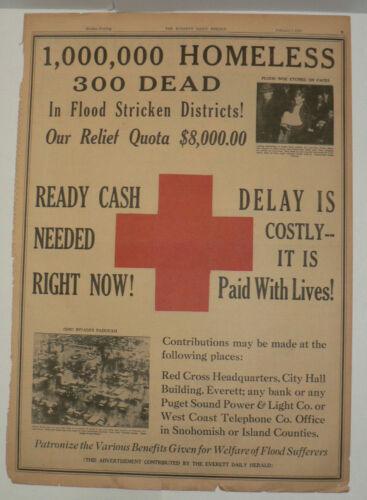 1937 Red Cross, Original Full Page Newspaper Ad