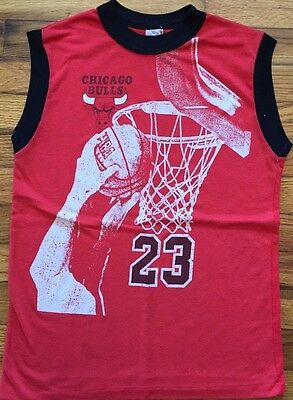 Vintage Chicago Bulls Shirt NBA Basketball Michael Jordan Tank Top 80s RARE