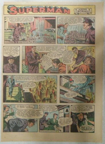 Superman Sunday Page #681 by Wayne Boring from 11/16/1952 Size ~11 x 15 inches