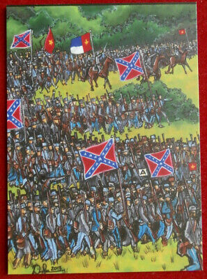 CIVIL WAR CHRONICLES - Picketts Charge - Card CW18 - Art by Dave Sharpe