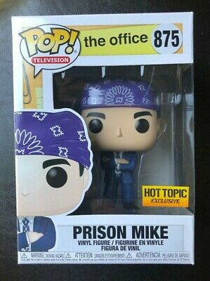 FUNKO POP THE OFFICE SERIES PRISON MIKE SCOTT HOT TOPIC EXCLUSIVE see -