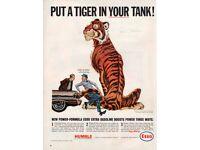 """38mm pin badge Retro style Esso  /""""Put a tiger in your tank/"""" petrol//oil badge"""
