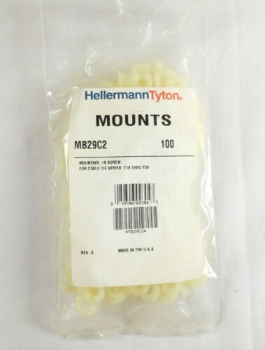 """MB29C2 Cable Tie Anchor Mount, .81"""" x .49"""", .193"""" Hole Dia. - LOT OF 900"""