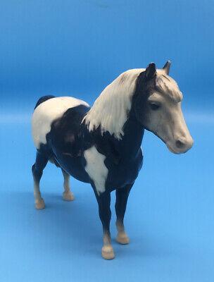 Vintage Breyer #21 Glossy Shetland Pony Black and White Great Shape