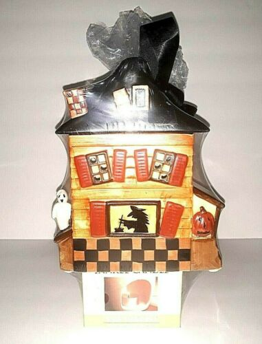 New YANKEE CANDLE Halloween Witch House TART WARMER 12 Tea Lights 3 Potpourri