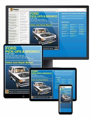 Haynes Online Repair Manual For 1980   1996 Ford F 150  F 250  F 350   Bronco