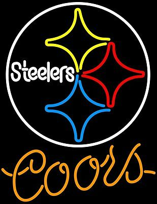 Pittsburgh Steelers Nfl Neon Sign (New Coors Light Pittsburgh Steelers NFL Beer Neon Sign)