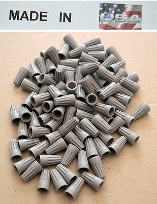 (5000 pc) Gray Grey Screw-On Nut Wire Connector TWIST BARREL P1 22-16 Free Ship!