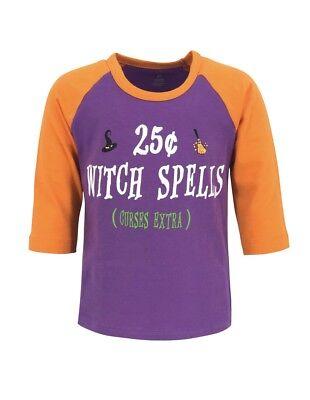Girls Witch Spells Halloween Raglan Shirt Boutique Toddler Kids Clothes Top 2-8