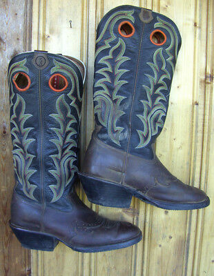 TONY LAMA WESTERN COWBOY BUCKAROO BOOTS WESTERN STIEFEL GR 44 REITSTIEFEL