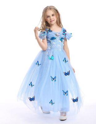zessin Cinderella Kostüm Abendkleid blau Karneval-Party Krone (Cinderella Krone)