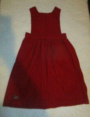 Ralph Lauren Polo Red Scottie Dog Corduroy Jumper Dress Girls Size 6