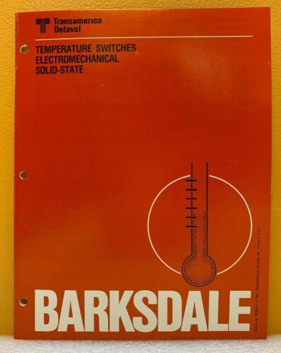 Barksdale / Transamerica Delaval 1982 Bulletin 820503-A Catalog.