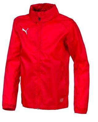 Puma LIGA Training Rain Jacket Core Jr red-white Age 13-14 Years