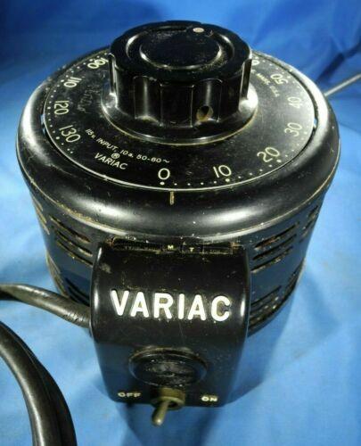 VINTAGE GENERAL RADIO TYPE V10MT 10A VARIAC AUTOTRANSFORMER - USA  (TESTED!)
