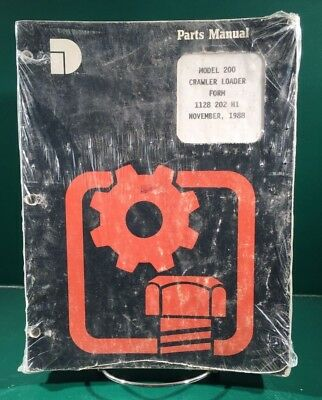 Dresser Model 200 Crawler Loader Parts Manual Sealed November 1988