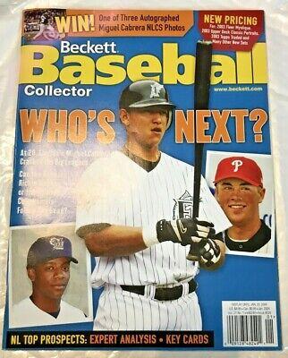 Jan. 2004 Issue #226 Beckett Baseball Miguel Cabrera Rickie Weeks Cole Hamels VF