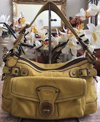 COACH 65th Anniversary Legacy Yellow Leather Shoulder Bag Purse EUC, MSRP $498