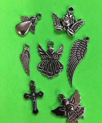 Diy Christmas Gift Ideas (CHARMS  angels wings cross DIY gift idea stocking stuffer Christmas gift)