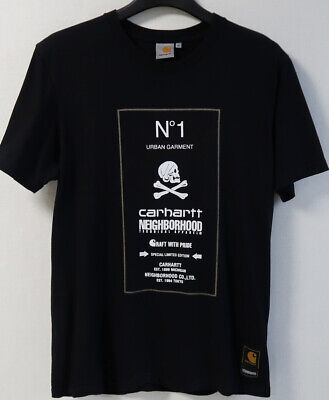 NEIGHBORHOOD X CARHARTT WIP COLLABORATION T SHIRT size S 100% Authentic