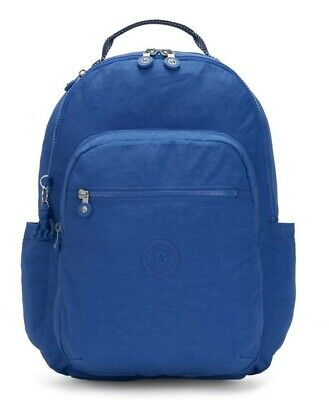 Kipling SEOUL Large Backpack with Laptop Compartment - Wave Blue