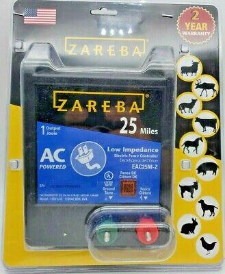 Nib Zareba Eac25mz 25 Miles Ac Low Impedance Electric Fence Charger 115v1j-6