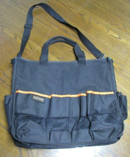 Fiskars Carry Bag Hobby Arts Crafts Tote Black Carryall 18 x16 Large