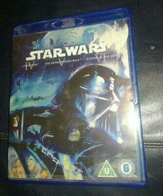 Star Wars Trilogy: Episodes IV, V and VI Blu-ray 2011 Region Free Excellent Cond