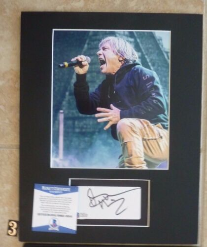 Bruce Dickinson Iron Maiden Signed 11x14 Matted Photo Display #3 BAS Certified
