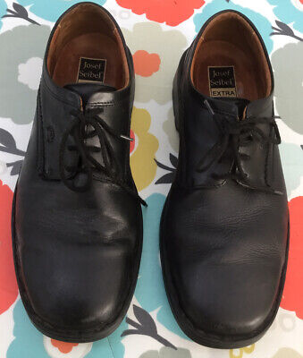 Josef Seibel Men's Shoes, Black, Size 9 Extra Wide, Good Condition, FREE POSTAGE