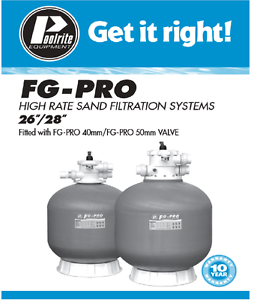 """POOL SAND FILTER  # POOLRITE FG  PRO28"""" #  $475 or $595 with sand Perth Perth City Area Preview"""