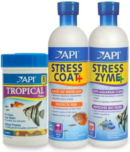 API Stress Coat Water Conditioner,Makes tap Water Safe Tropical Bundle 3-pack
