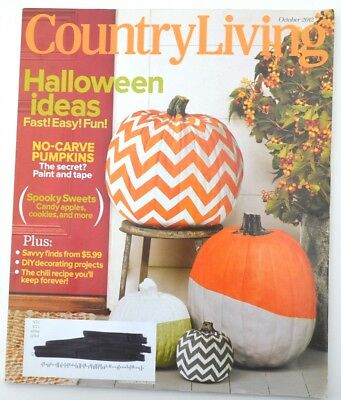 Country Living Magazine - October 2012 - Halloween Ideas, No Carve Pumpkins](Pumpkin Halloween Carving Ideas)
