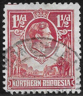 "Northern Rhodesia 1938-52 1½d Carmine ""Tick Bird"" Flaw FU SG 29b. CV £450"