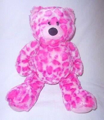 Ganz Cherie Bear Pink Plush Stuffed Animal Purple Leopard Spots HV9206