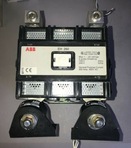 ABB Contactor EH 260 with LEM Current Transducers HTA 400-S/SP2