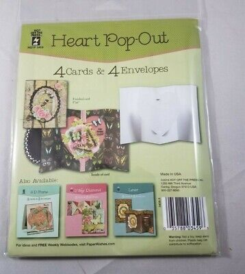 Heart Pop Out 4 Cards & 4 -