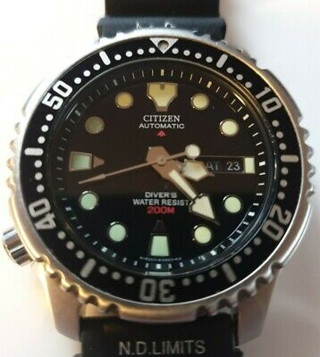CITIZEN PROMASTER 21J AUTOMATIC 200M DIVERS-ST STEEL F.W.O