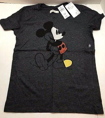 Disney Mickey Mouse Women's Regular Fit T-Shirt Heather Gray XS-M Vintage Tee](Disney Shirt Womens)