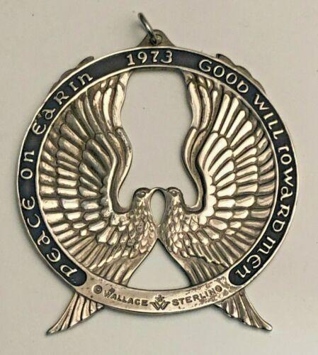 Wallace 1973 Annual Peace Dove Ornament Sterling Ornament, no box