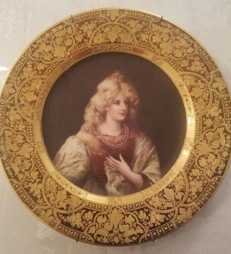 Fine Antique Royal Vienna Plate, DORNROSCHEN, Signed Wagner