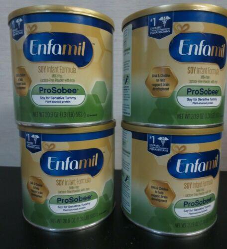 Enfamil ProSobee Soy Infant Formula Powder - 4 CANS - 20.9 OZ
