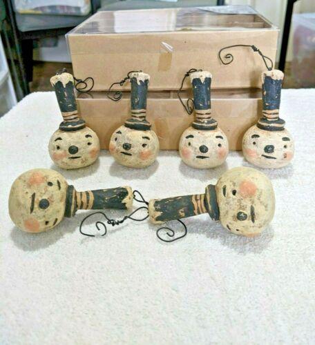 Johanna Parker Top Hat Happy Snowman Ornament Folk Art Decor Primitives By Kathy