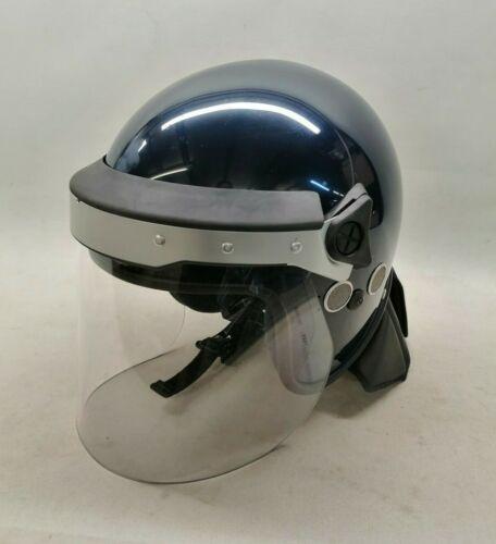 Riot Helmet & Bag Blue Argus Public Order Crowd Control Uniform Safety PPE Duty